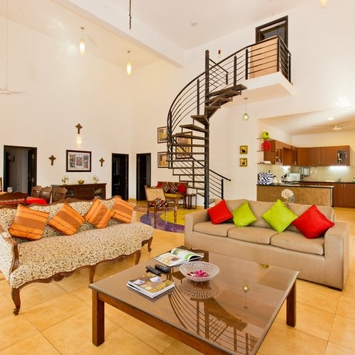 Luxury living room in Goa Villa for rent