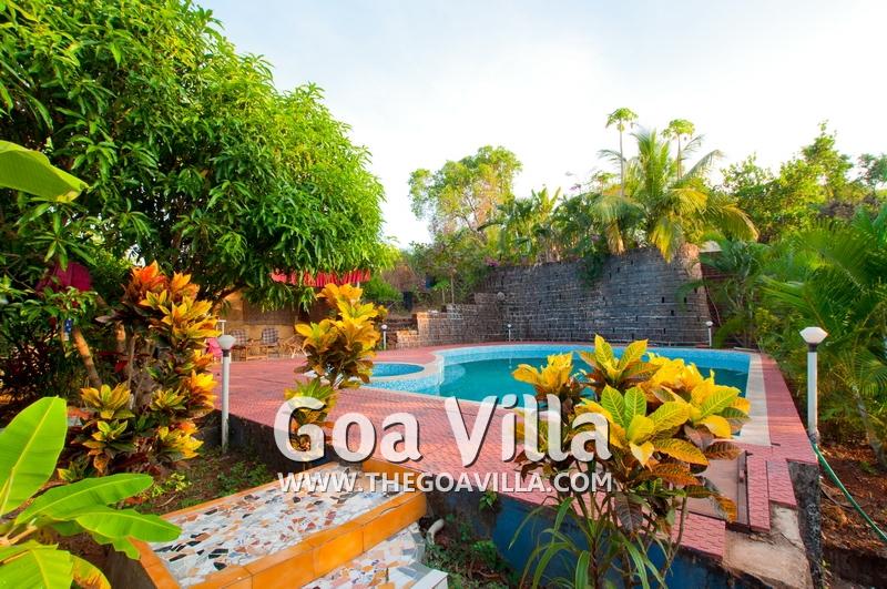 Villa For Rent In Mandrem Villa Tia Garden With Swimming