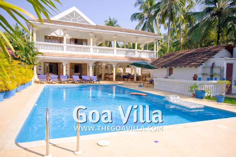 Luxury villa for rent in candolim villa garden grove for Garden grove pool