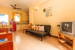 For rent Pearl Apartment with swimming pool in Benaulim South Goa  Pearl Apartment (#2304)  Goa, South, Benaulim - Kitchen, living room