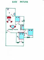 Holiday villa for rent in Anjuna — Villa Beach Cottage | 2003  Beach Cottage (#2003)  North Goa, Anjuna - Site plan