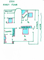 Luxury villa for rent in Cansaulim — Shanti Villa | 2326  Shanti Villa (#2326)  South Goa, Cansaulim - Site plan