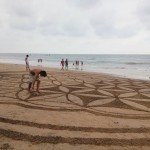 @instagram: #tbt#vacationtimes#Anjuna#Indiatimes#beach#afternoonlikethis#sanddrawing#amazingpictures#anotherworld