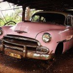 @instagram: Ready to fly!! #vintage #cars #vintagecars #explore #anjuna #goa #iphonephotography #pinkcar