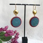@instagram: Christmas is around the corner so we are stocking up on great gift items. These embroidered textile and metal earrings are new in store and they make quite a statement - we love them! #indianjewellery #rangeelagoa