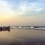 arambol india goa beach sunrise