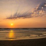 colva india goa beach nature sunset