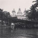 @instagram: Headed to church. #stalex #church #rain #umbrella #christianity #architecture #people #trees #calangute #goa #india