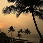 candolim india goa sunset aguada beautiful
