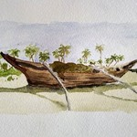 @instagram: Benaulim beach, Goa #benaulim #goa #goabeaches  #cansonpaper #watercolour #watercolor
