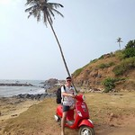 @instagram: #v #vagator #beach #b #goa #???????? #india #vespa