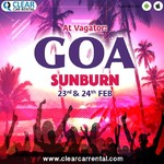 @instagram: Have the time of your lives,  plan and witness the Sunburn festival at Goa.  From: 23rd-24th Feb.  Book your travel towards the destination with www.clearcarrenral.com and be assure of Cofortable #cab ride from 300+ cities in India.  Call for any help in