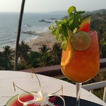 @instagram: One more to summers #goa #vagator #beach #cocktail #sunset