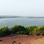 @instagram: Where the river meets the sea . . #chapora #river #arabiansea #chapora #fort #view #siolim #nicefromuphere #ilivehere #getoutside #firstoftheday #sunset #stuckinsiolim #goa #india #hiking #chill #whynot