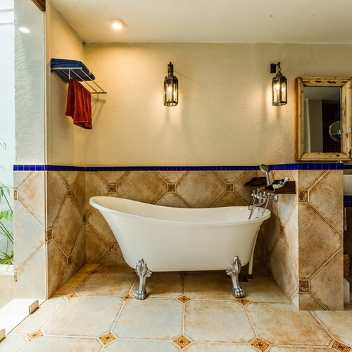 Luxury bathroom in the villa