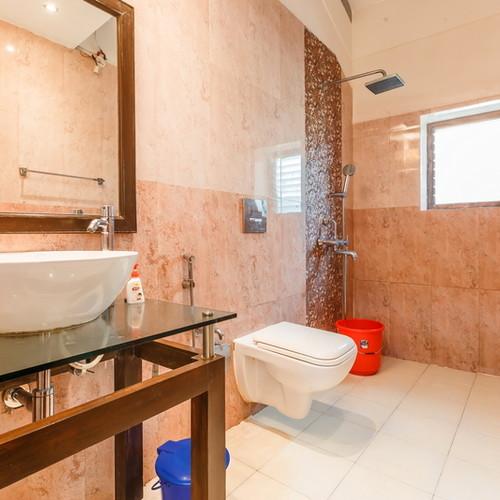 Bathroom with modern facilities