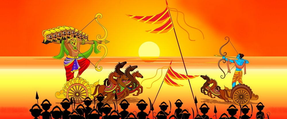 Dussehra marks the celebration of victory of good over evil, of Rama over Ravana