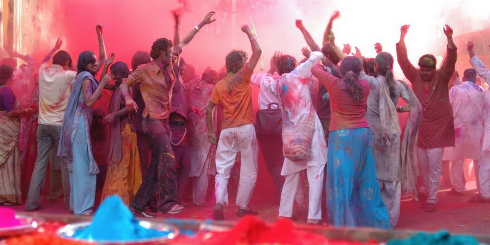 The second day is the festival of colour or Dhuleti